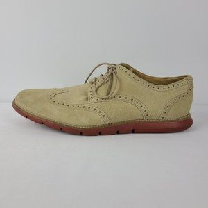 Cole Haan Beige Suede Grand OS Laced Shoes Size 12